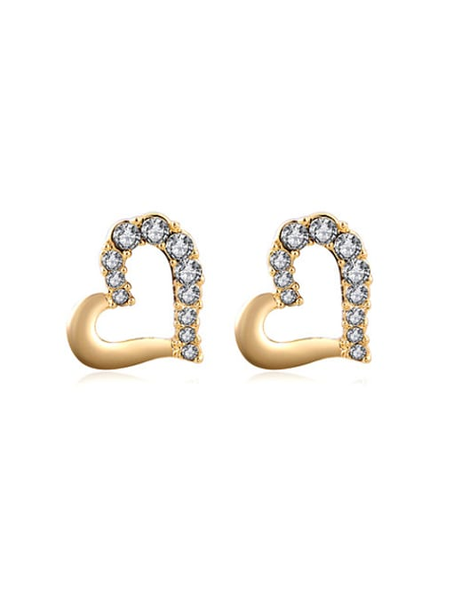 Women/'s 18K Gold Plated Curved Claw Style Hook Stud Earrings Fashion Jewelry