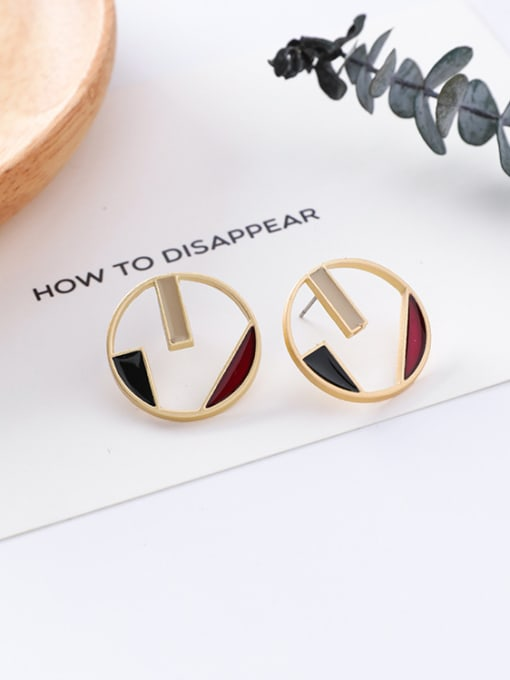 6#10426F Alloy With Gold Plated Trendy Geometric Stud Earrings