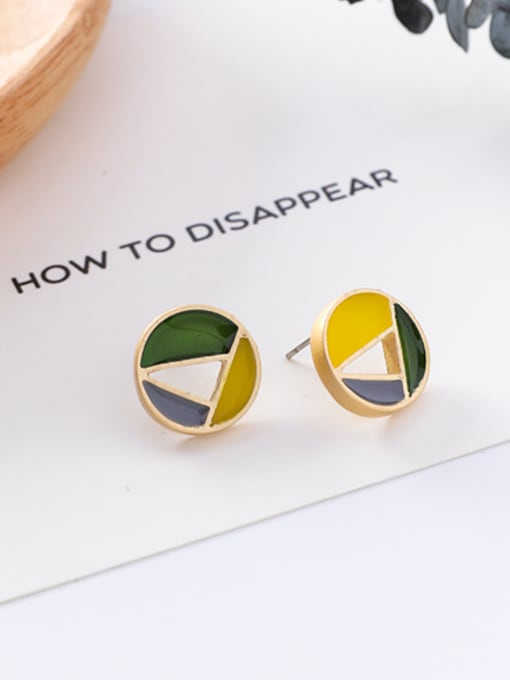 5#10426E Alloy With Gold Plated Trendy Geometric Stud Earrings