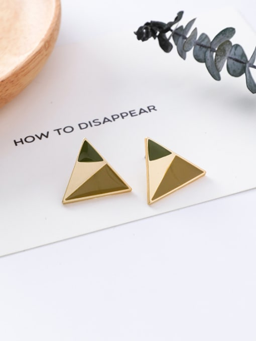 10#10426K Alloy With Gold Plated Trendy Geometric Stud Earrings