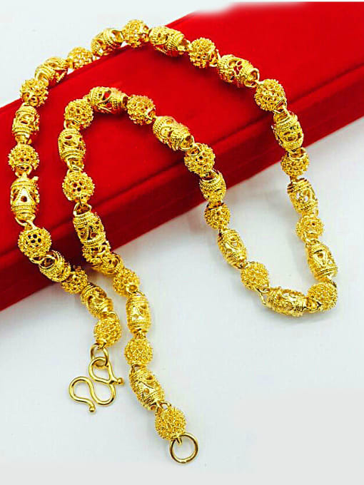 Neayou 24K Gold Plated Hollow Geometric Necklace
