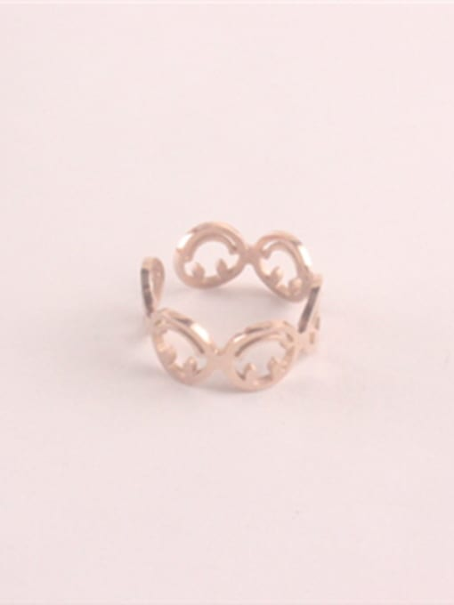 Rose Hollow Fashion Titanium Opening Ring