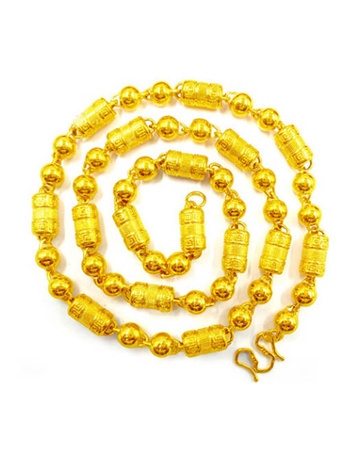 golden Gold Plated Geometric Men Necklace