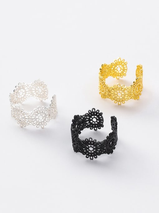Girlhood Alloy With Gold Plated Trendy Retro lace Ring Bracelet 0