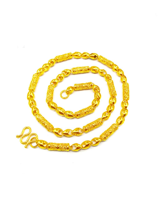 golden Men Delicate Brass Gold Plated Necklace