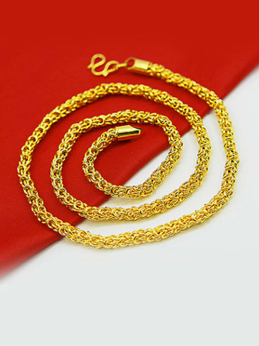 4Mm, 50Cm Men Exquisite Gold Plated Geometric Necklace