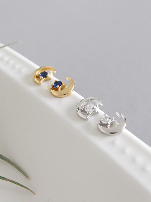 Dak Phoenix 925 Sterling Silver With 18k Gold Plated Simplistic Star Stud Earrings 2