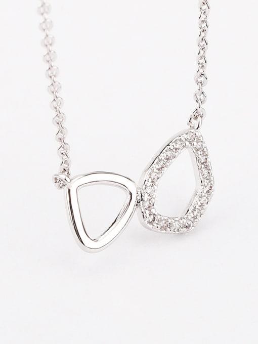 OUXI Simple Cubic Zircon Geometrical Necklace 2