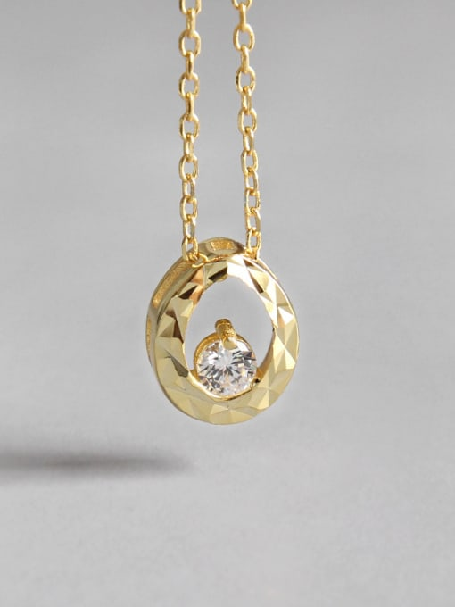 Dak Phoenix 925 Sterling Silver With 18k Gold Plated  Water Drop Necklaces