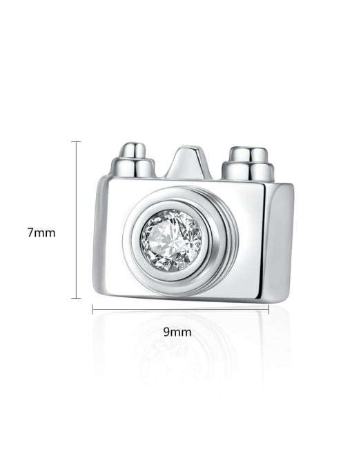 BLING SU Copper With 18k Gold Plated Personality camera Stud Earrings 3