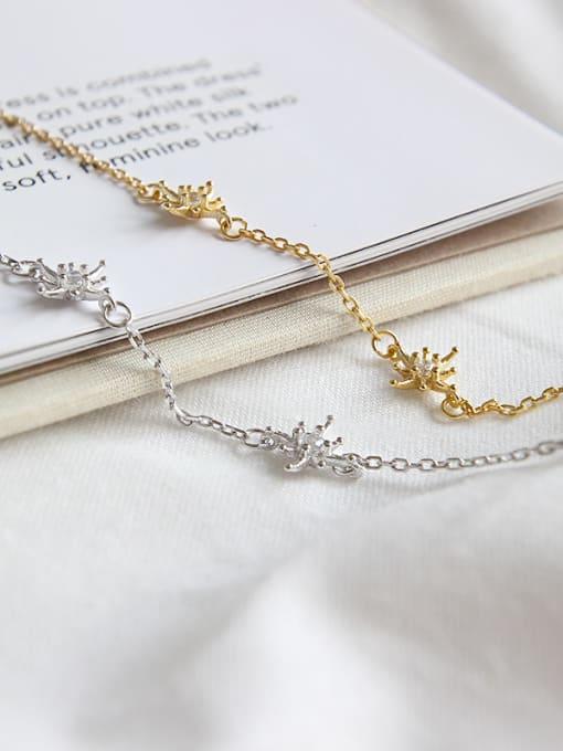Dak Phoenix 925 Sterling Silver With 18k Gold Plated Fashion Flower Bracelets 2