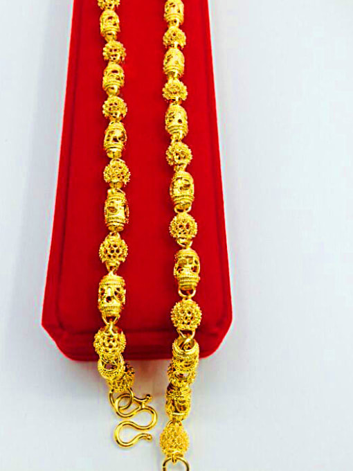 Neayou 24K Gold Plated Hollow Geometric Necklace 2