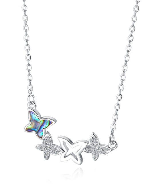 715 -steel Copper With 18k Gold Plated Cute Butterfly Necklaces