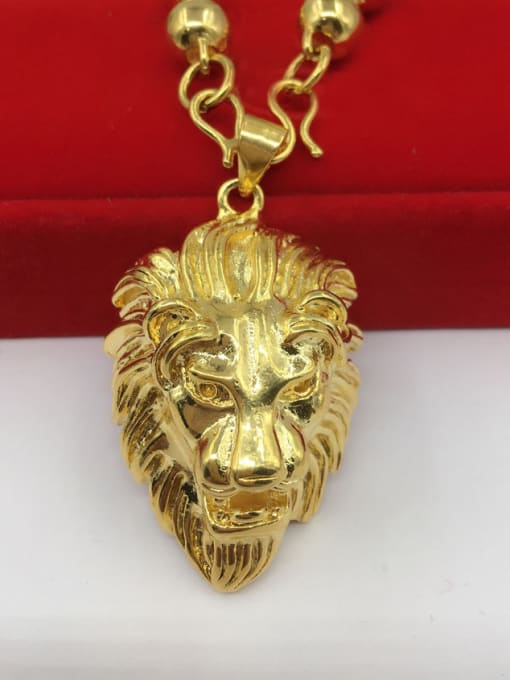 Lion Pendant Exquisite Wolf Shaped Men Pendant