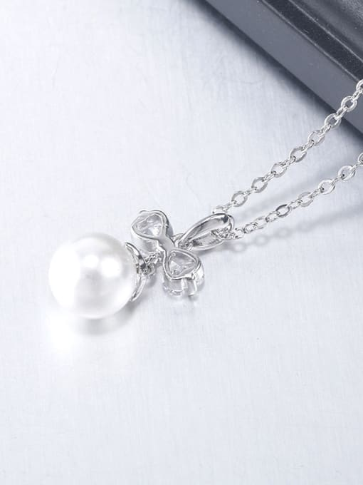 OUXI Fashion Bowknot Artificial Pearls Necklace 2