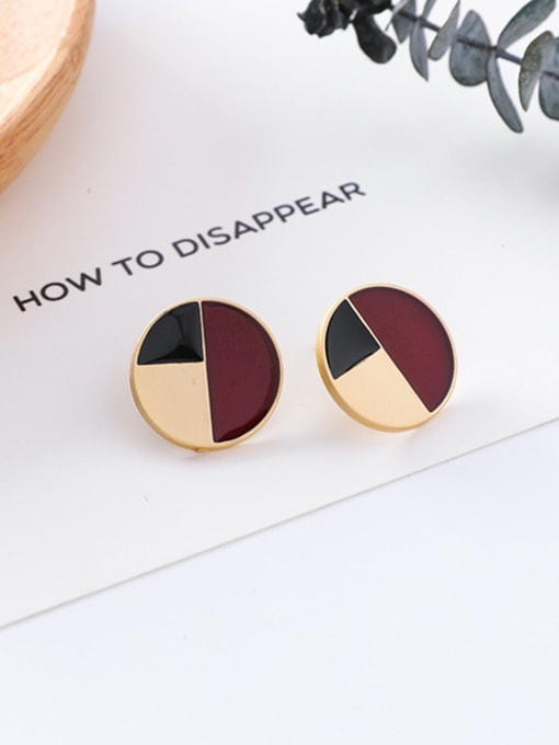 1#10426A Alloy With Gold Plated Trendy Geometric Stud Earrings