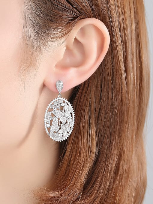 BLING SU Copper With 18k Gold Plated Luxury Butterfly  Cubic Zirconia Stud Earrings 1