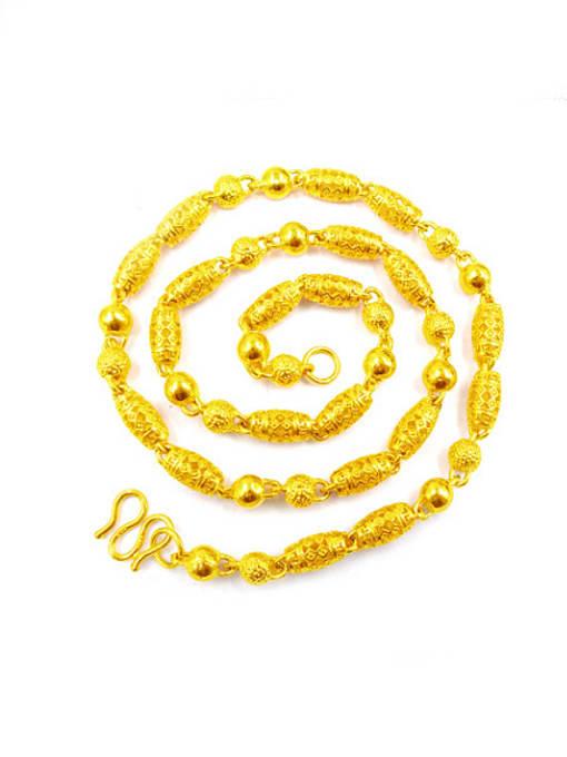 golden Men Exquisite Geometric Shaped Necklace
