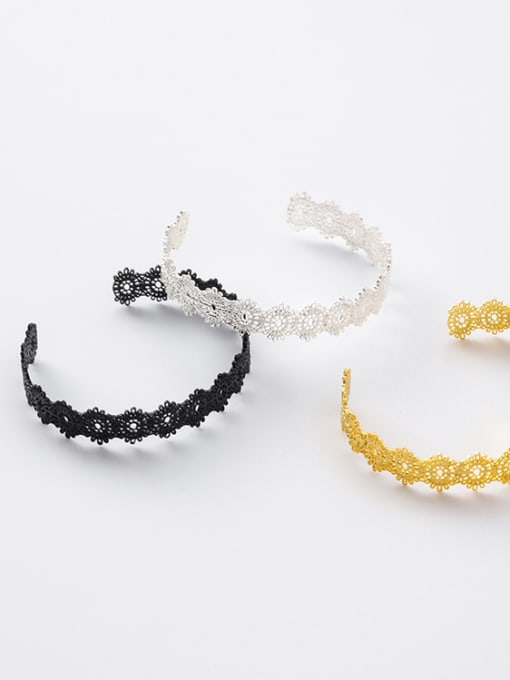 Girlhood Alloy With Gold Plated Trendy Retro lace Ring Bracelet 2