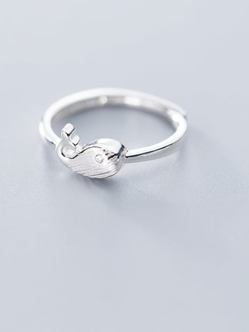 Rosh 925 sterling silver fish minimalist free size ring 1