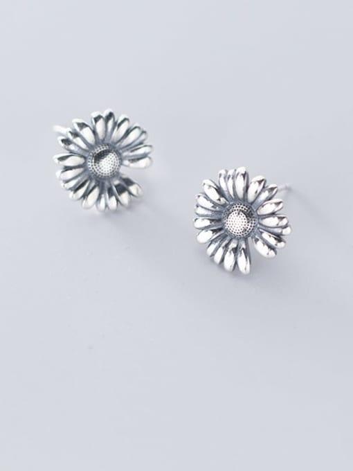 Rosh 925 Sterling Silver Flower Vintage Stud Earring