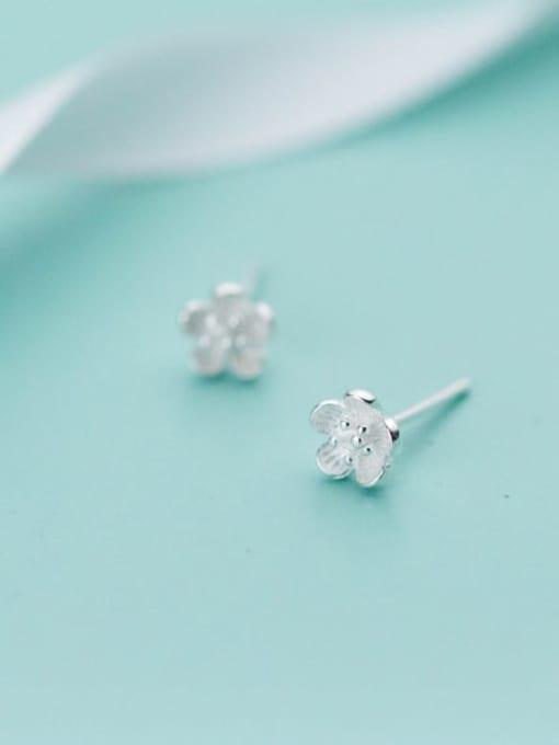 Rosh 925 Sterling Silver  Cute Flower Stud Earring 1