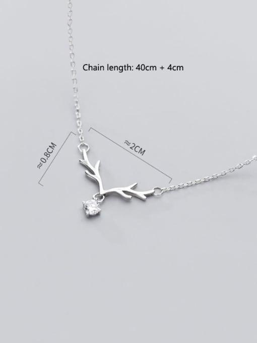 Rosh 925 Sterling Silver Cubic Zirconia  Irregular Minimalist Necklace 4