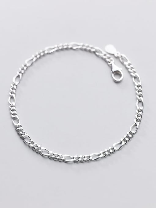 Rosh 925 Sterling Silver Minimalist Fashion wave thick chain geometric bracelet 1