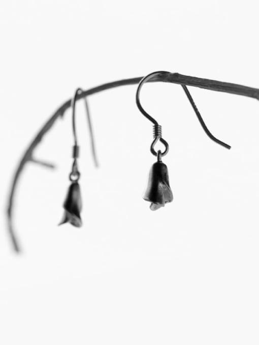 Rosh 925 sterling silver minimalist flower  hook earring 2