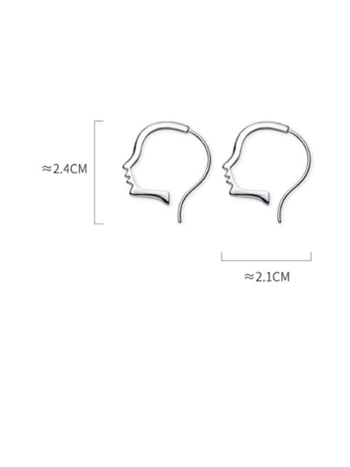 Rosh 925 sterling silver irregular minimalist stud earring 4