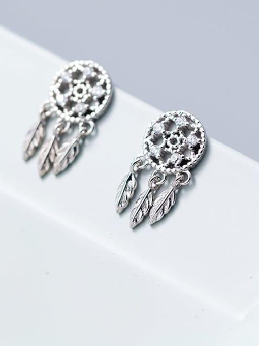 Rosh 925 Sterling Silver Cubic Zirconia Tassel Vintage Drop Earring