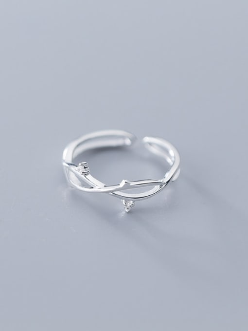 Rosh 925 Sterling Silver  Minimalist Tree branch Free Size  Ring 2