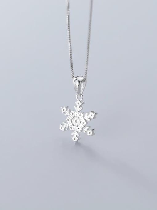 Rosh 925 Sterling Silver Simple snowflake diamond pendant 3
