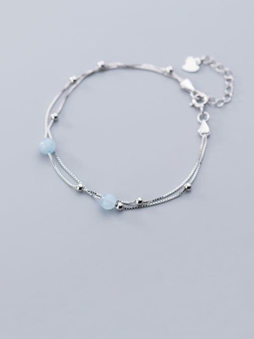 Rosh 925 Sterling Silver Irregular Minimalist Strand Bracelet 1
