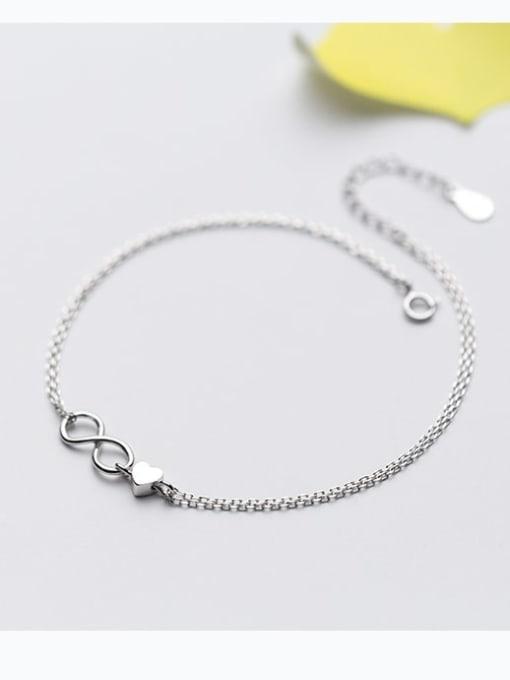 Rosh 925 Sterling Silver Minimalist Number  8   Anklet 1