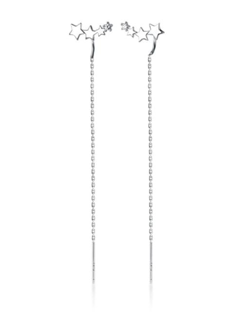 Rosh 925 Sterling Silver Tassel Trend Threader Earring 2