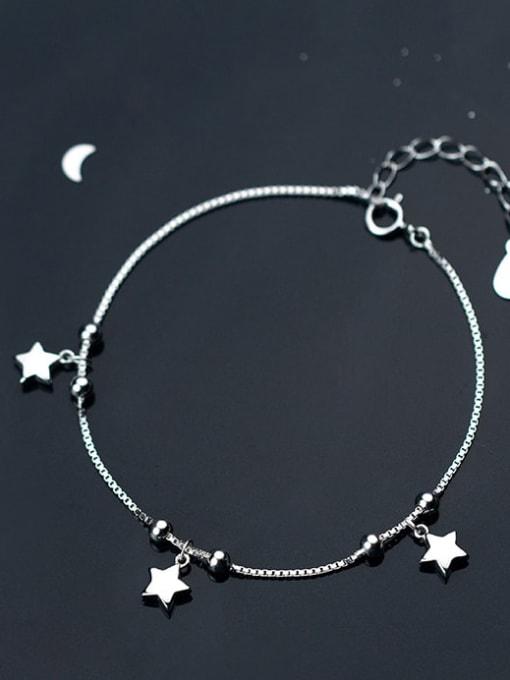 Rosh 925 Sterling Silver  Minimalist Star Link Bracelet 1
