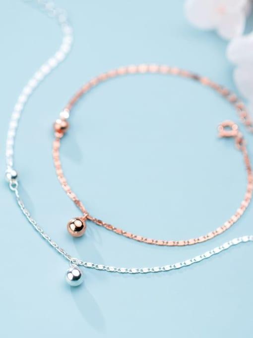 Rosh 925 Sterling Silver Round Bead Minimalist china Bracelet