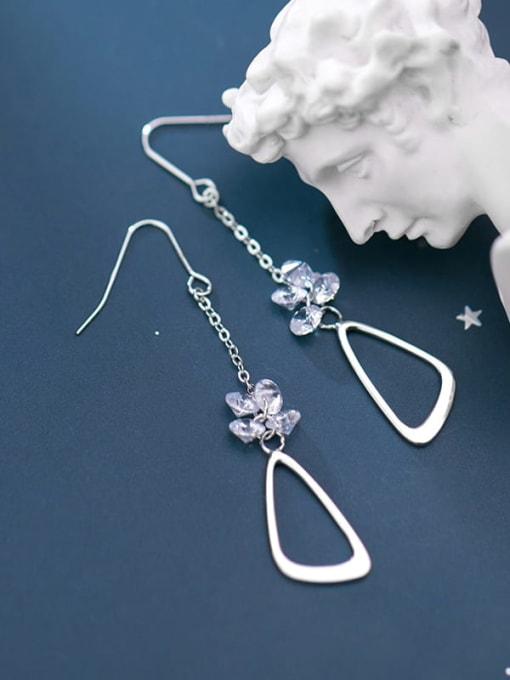 Rosh 925 Sterling Silver Triangle Minimalist Hook Earring 2