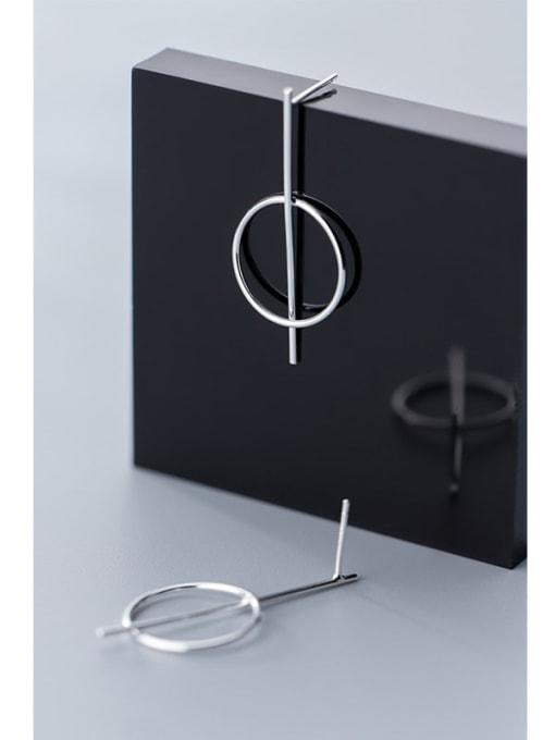 Rosh 925 Sterling Silver  Minimalist Geometric Drop Earring 2