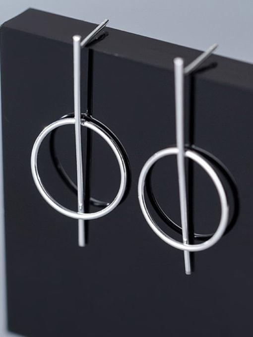 Rosh 925 Sterling Silver  Minimalist Geometric Drop Earring 3