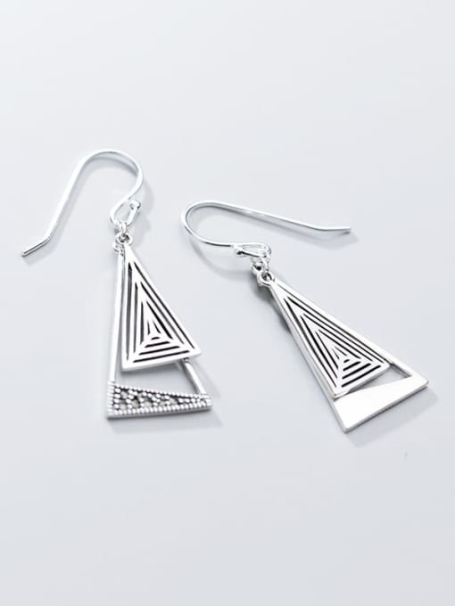 Rosh 925 Sterling Silver Triangle Vintage Hook Earring 3
