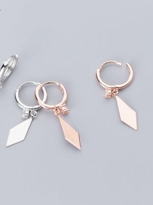 Rosh 925 Sterling Silver Smooth Geometric Minimalist Huggie Earring 0