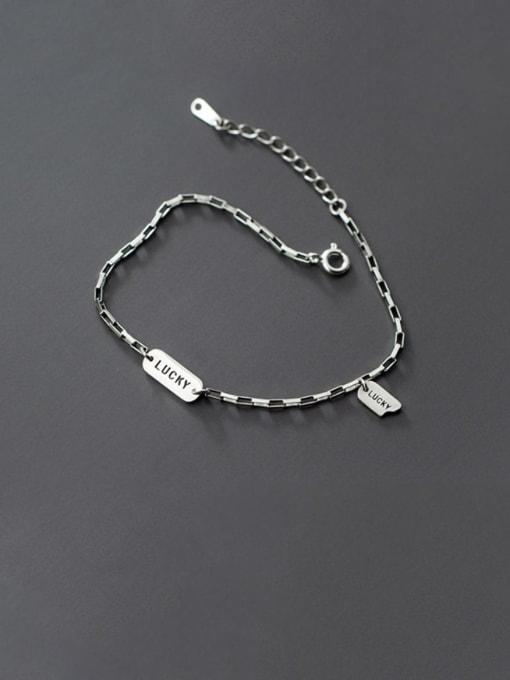 Rosh 925 Sterling Silver  Vintage Lucky Tag Bracelet Link Bracelet 0