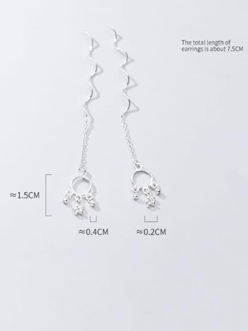 Rosh 925 Sterling Silver Star Vintage Threader Earring 4