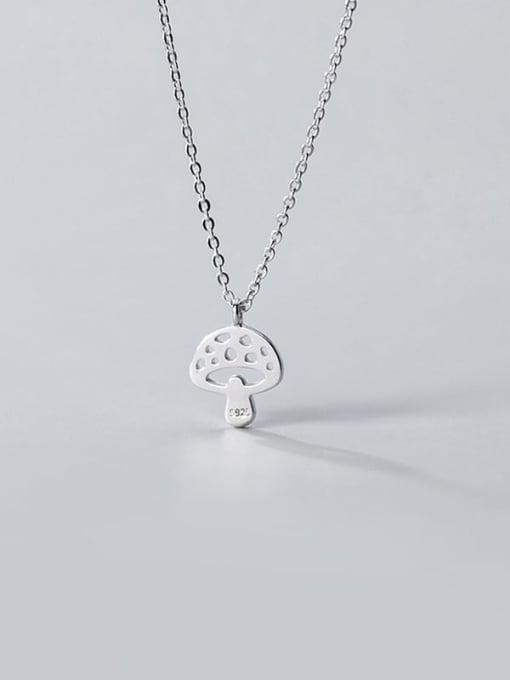 Rosh 925 Sterling Silver Hollow Mushroom Minimalist Necklace 4