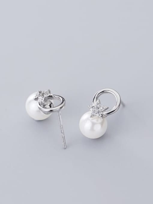 Rosh 925 Sterling Silver Round Minimalist Stud Earring 3