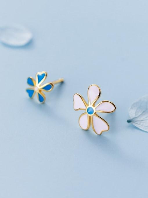 Rosh 925 Sterling Silver flower Stud Earring 1