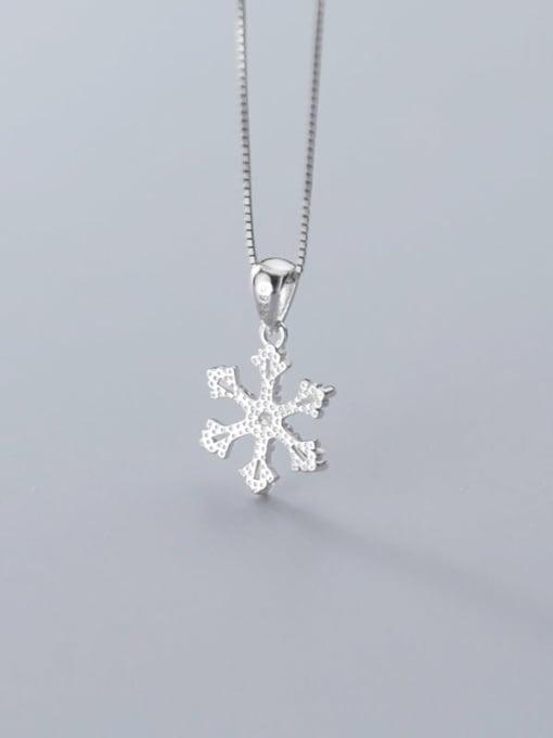 Rosh 925 Sterling Silver Snowflake Diamond Pendant  (no chain) 4