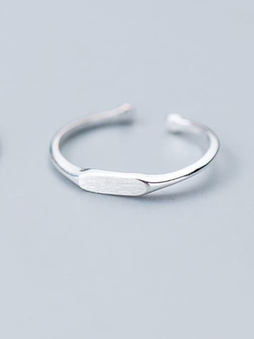 Rosh 925 Sterling Silver Smooth Geometric Minimalist Free Size Midi Ring 1